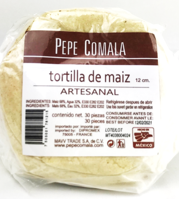 Corn Tortillas 12 cm / Tortillas de maiz 12 cm-0