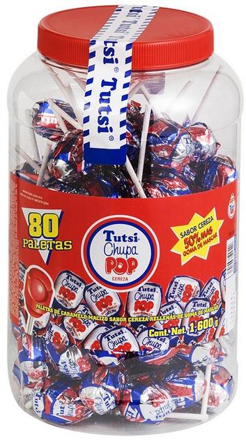 Tutsi Pop Cherry Lollipops Pack-0