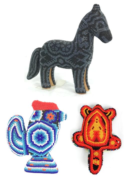 Huichol Bead animal figures / Figuras Animales con Chaquira-0